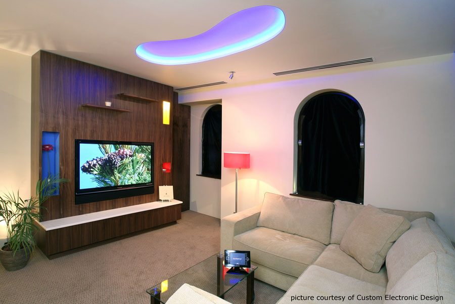 Wall nut living room and home cinema.