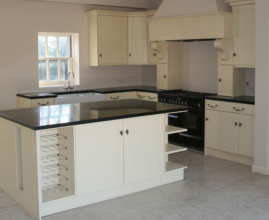Fully Painted and walk around Kitchen Design